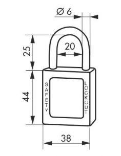 toartă inox Ø 6 x 25 mm (maro)